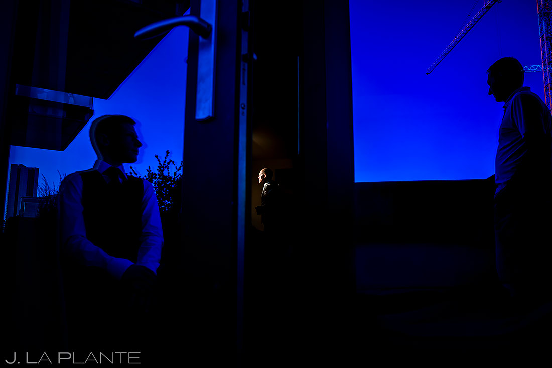 Groom getting ready | Downtown Denver Wedding | Denver Wedding Photographer | J. La Plante Photo