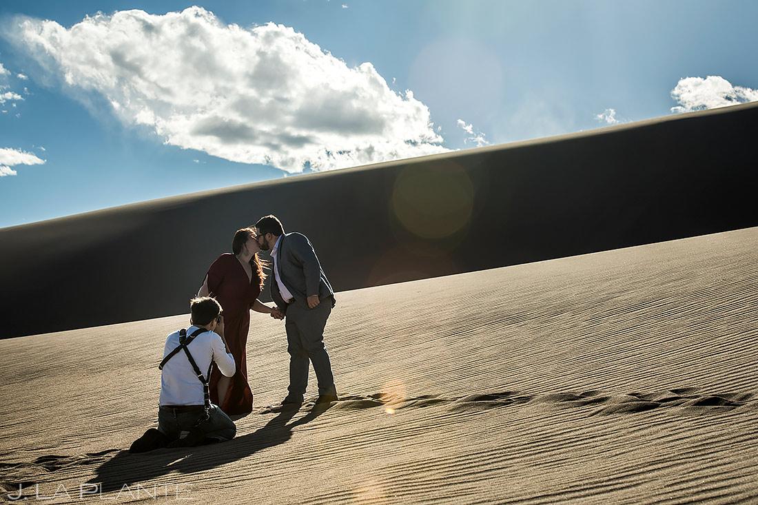 Wedding Photographers at Work | Great Sand Dunes National Park Engagement | Colorado Wedding Photographer | J. La Plante Photo