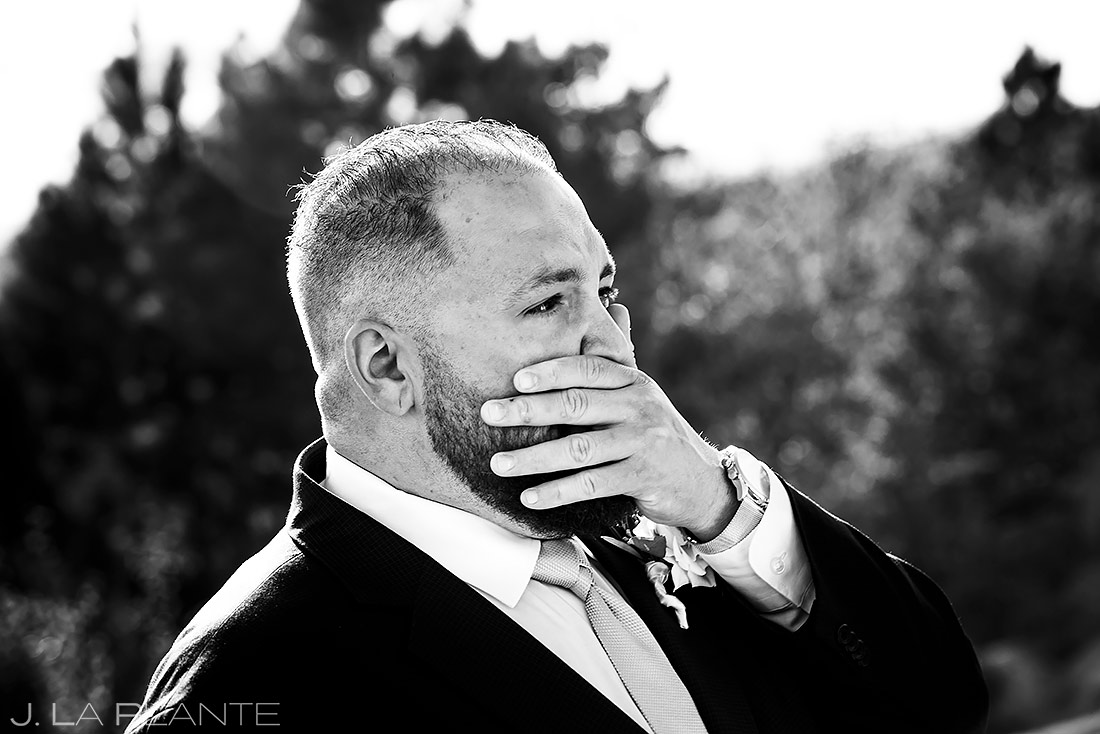 Groom Crying | Sanctuary Golf Course Wedding | Denver Wedding Photographer | J. La Plante Photo