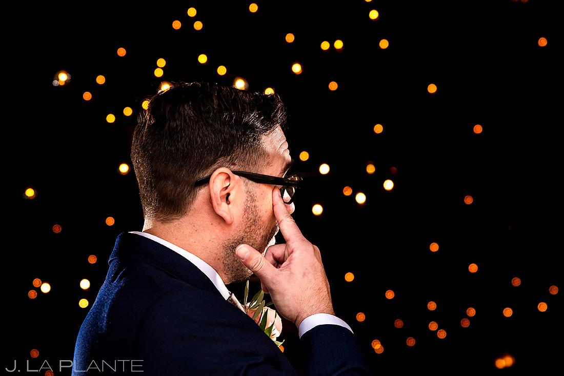 Best Man Crying During Ceremony | Sanctuary Golf Course Wedding | Denver Wedding Photographer | J. La Plante Photo