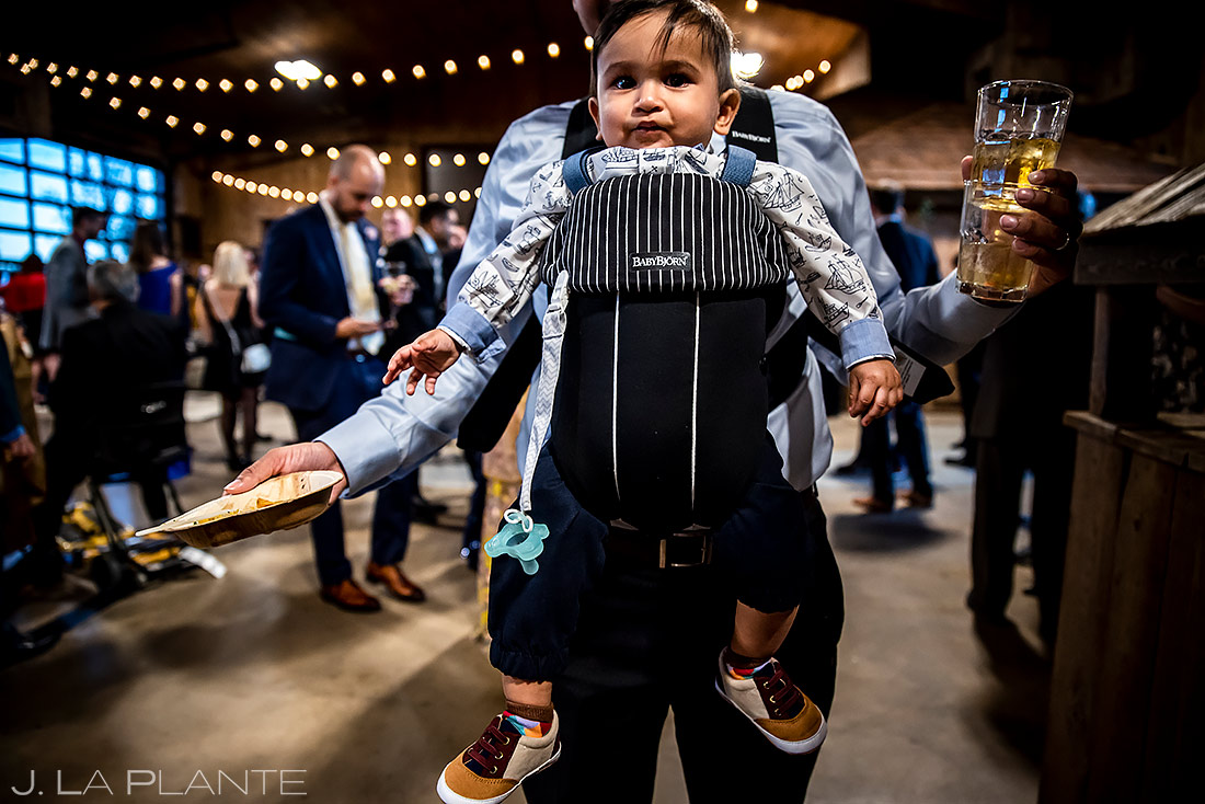 Baby at wedding | Spruce Mountain Ranch Wedding | Denver Indian Wedding Photographer | J. La Plante Photo