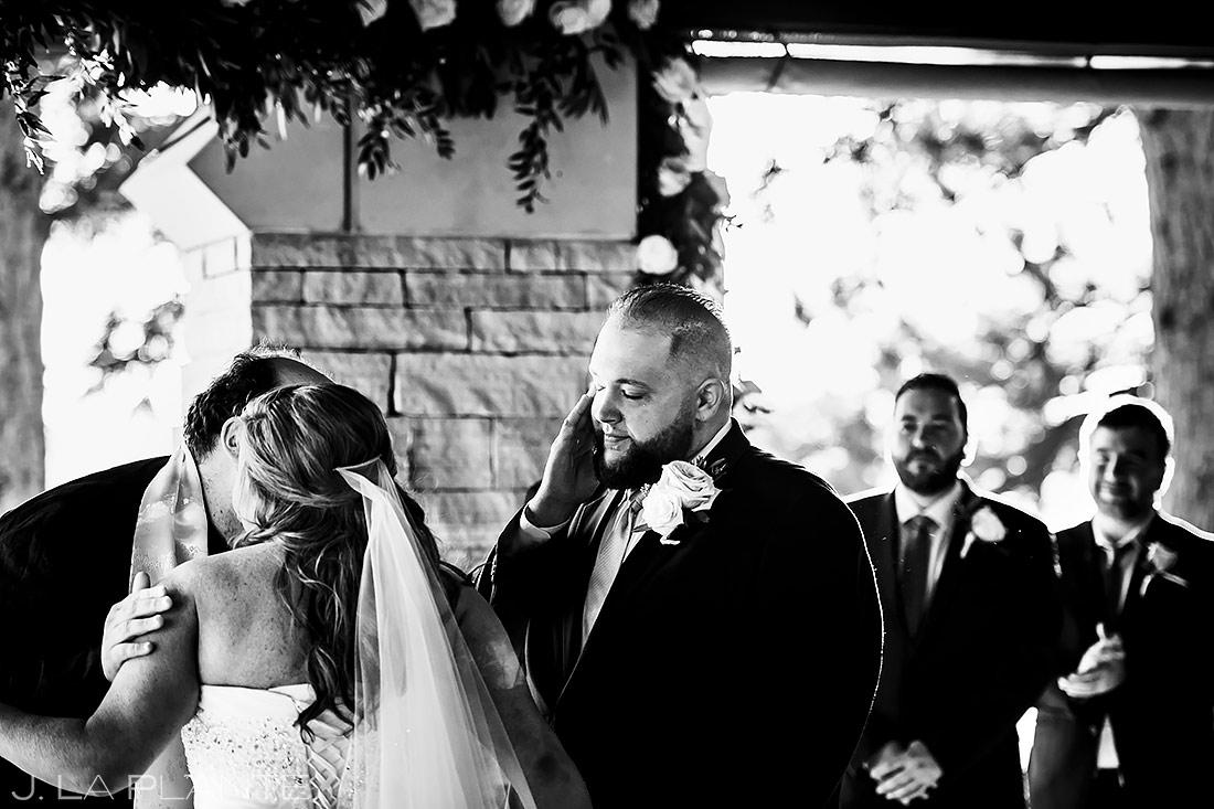 Groom Crying During Ceremony | Denver Wedding | Denver Wedding Photographer | J. La Plante Photo