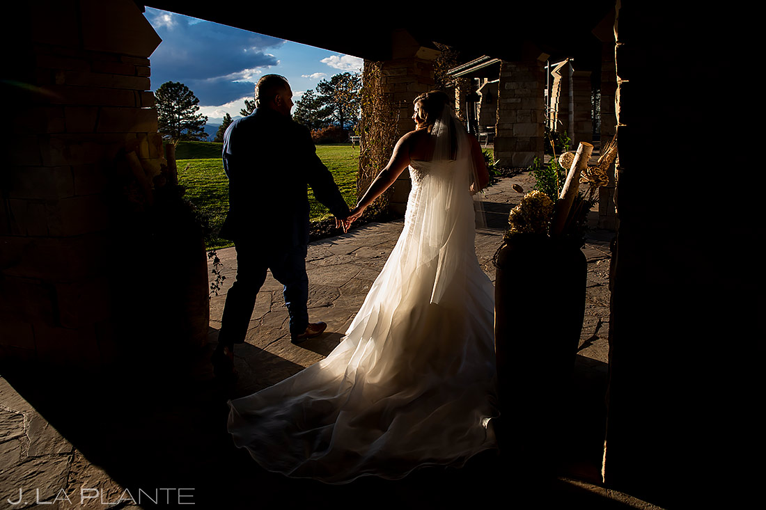 Bride and Groom Leaving Ceremony | Sanctuary Golf Course Wedding | Denver Wedding Photographer | J. La Plante Photo