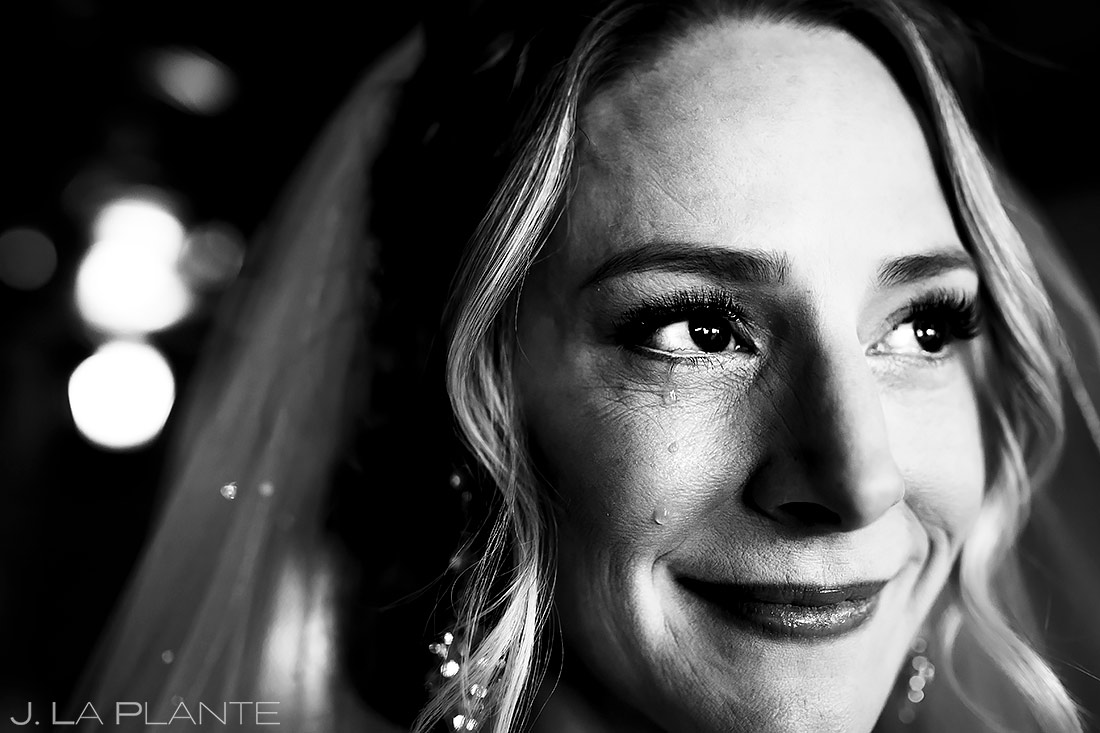Bride crying | Ironworks Wedding | Denver Wedding Photographer | J. La Plante Photo
