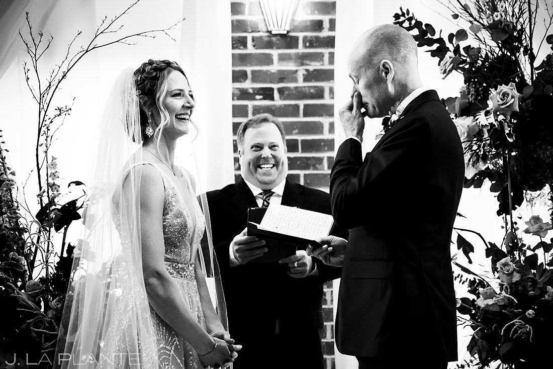 Groom crying | Ironworks Wedding | Denver Wedding Photographer | J. La Plante Photo