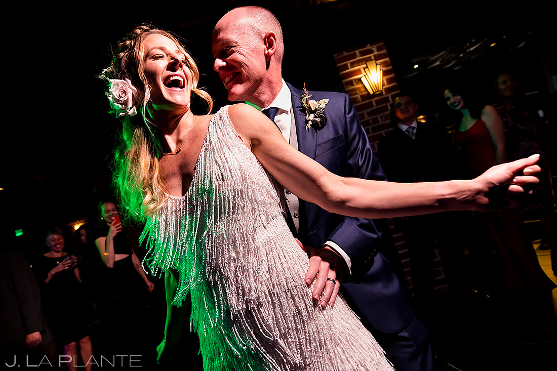 Bride and groom on dance floor | Ironworks Wedding | Denver Wedding Photographer | J. La Plante Photo