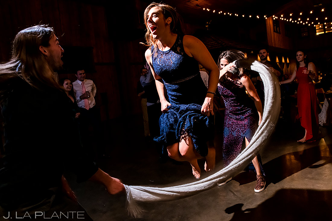 Reception jump rope | Spruce Mountain Ranch Wedding | Denver Same Sex Wedding Photographer | J. La Plante Photo
