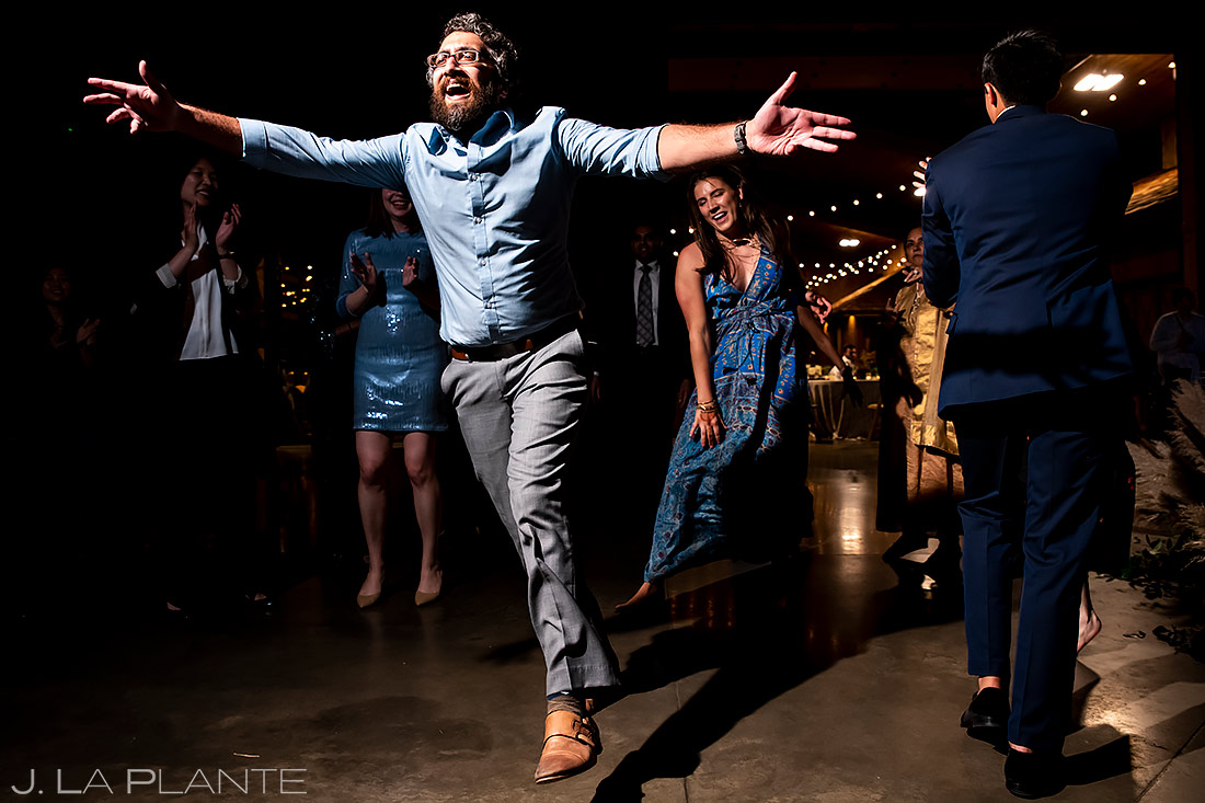 Reception dance party | Spruce Mountain Ranch Wedding | Denver Same Sex Wedding Photographer | J. La Plante Photo