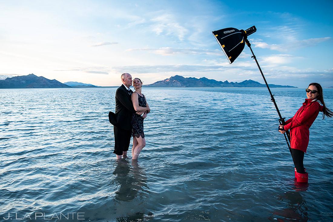 Bonneville Salt Flats Engagement | Destination Wedding Photographer | J. La Plante Photo