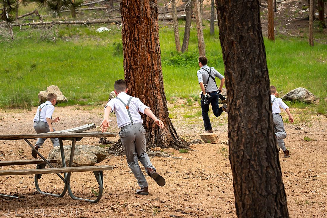 Wedding Photographers at Work | Lily Lake Wedding | Rocky Mountain National Park Wedding | Estes Park Wedding Photographer | J. La Plante Photo