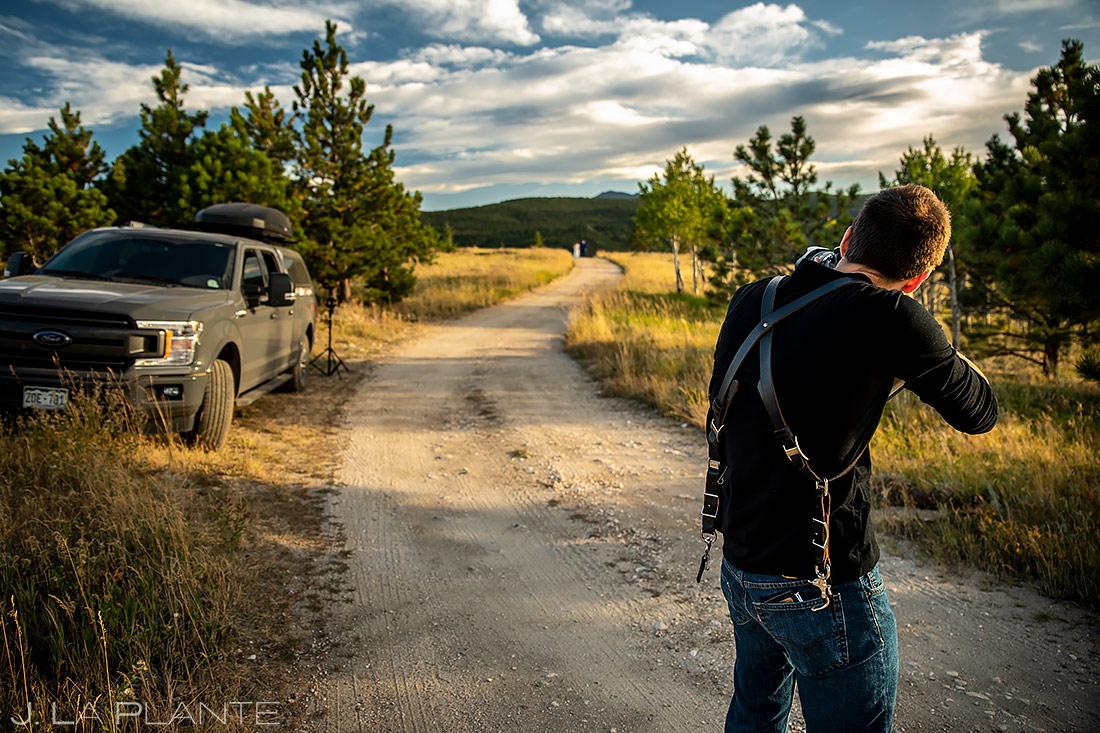 Wedding Photographers at Work | Sugarloaf Mountain Wedding | Boulder Wedding Photographer | J. La Plante Photo