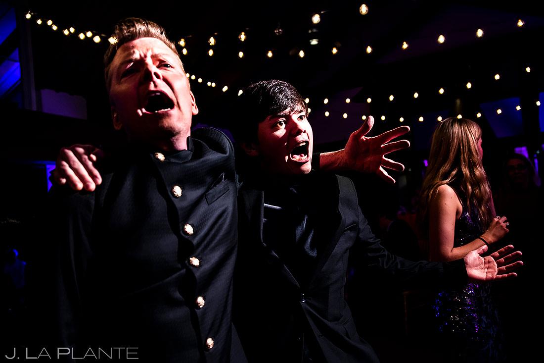 Father and Son Dancing During Reception | St. Regis Aspen Wedding | Aspen Wedding Photographer | J. La Plante Photo