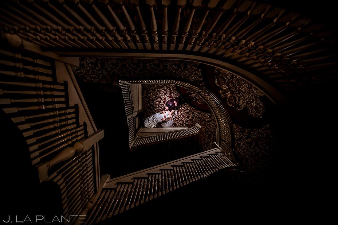 Unique Bride and Groom Photo | Stanley Hotel Wedding | Estes Park Wedding Photographer | J. La Plante Photo