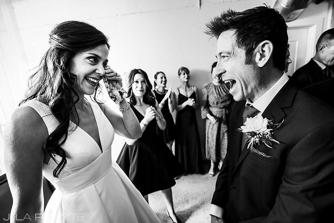 Bride and Groom First Look   The St. Vrain Wedding   Boulder Wedding Photographer   J. La Plante Photo
