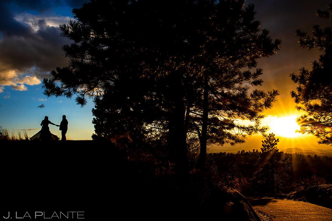 Bride and Groom Sunset Photo | Sanctuary Golf Course Wedding | Denver Wedding Photographer | J. La Plante Photo
