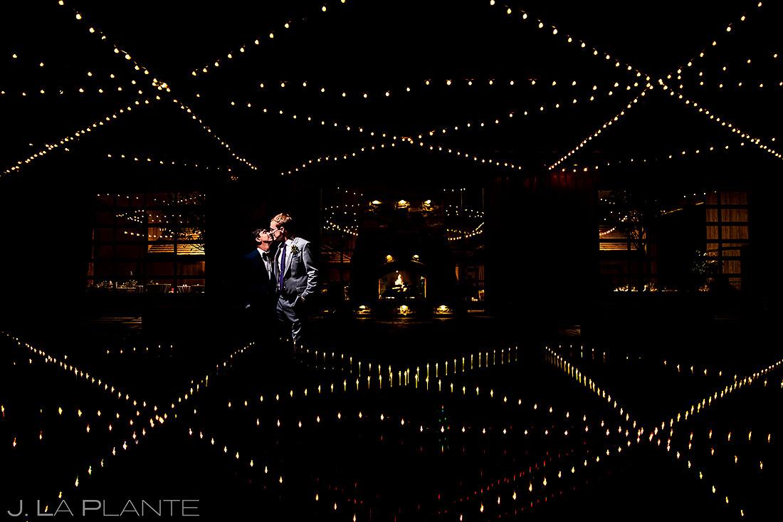 Unique Groom and Groom Portrait | Spruce Mountain Ranch Wedding | Colorado Wedding Photographer | J. La Plante Photo