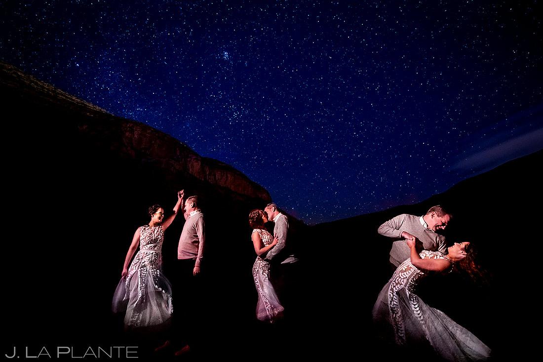 Bride and Groom Under the Stars | White Sands Engagement | Destination Wedding Photographer | J. La Plante Photo