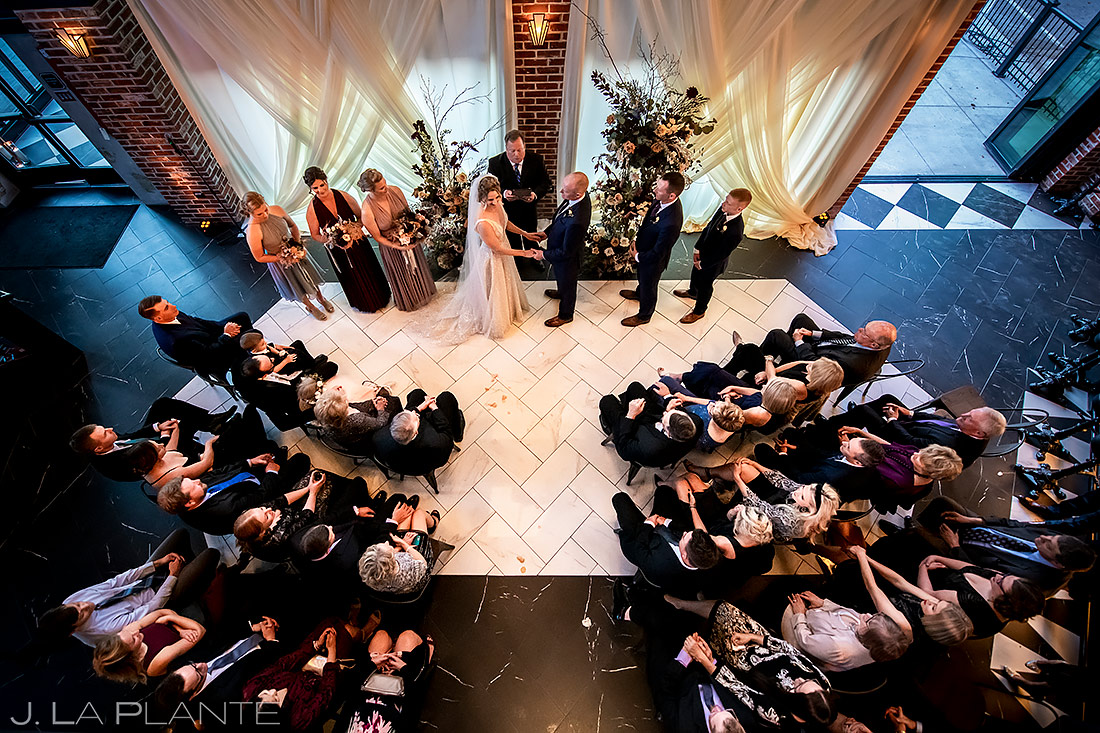Denver Wedding Ceremony | Ironworks Denver Wedding | Denver Wedding Photographer | J. La Plante Photo