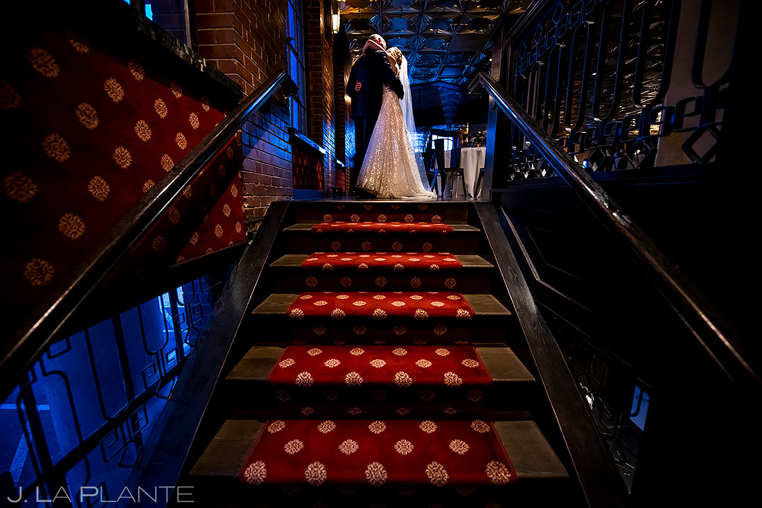Unique Bride and Groom Photo | Ironworks Denver Wedding | Denver Wedding Photographer | J. La Plante Photo