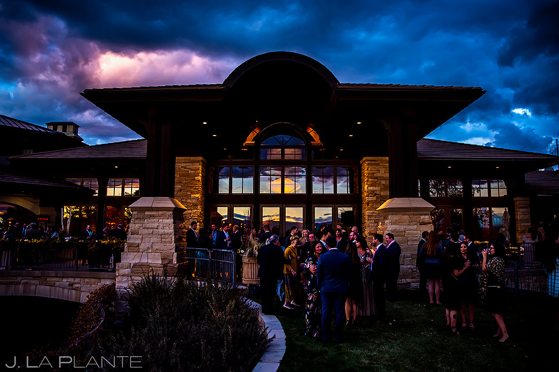 Mountain Wedding Cocktail Hour | Sanctuary Golf Course Wedding | Denver Wedding Photographer | J. La Plante Photo