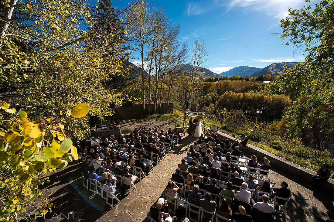 Fall Wedding Ceremony in Aspen | Aspen Meadows Resort Wedding | Aspen Wedding Photographer | J. La Plante Photo