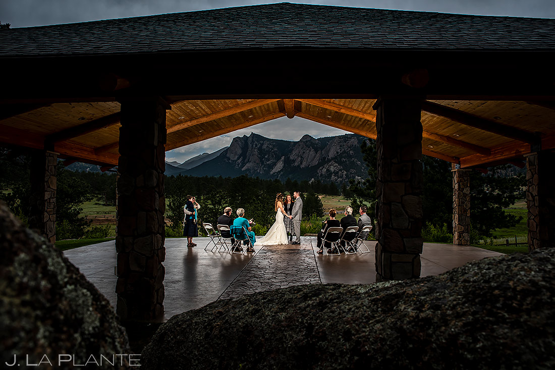 Outdoor Mountain Wedding Ceremony | Black Canyon Inn Wedding | Estes Park Wedding Photographer | J. La Plante Photo