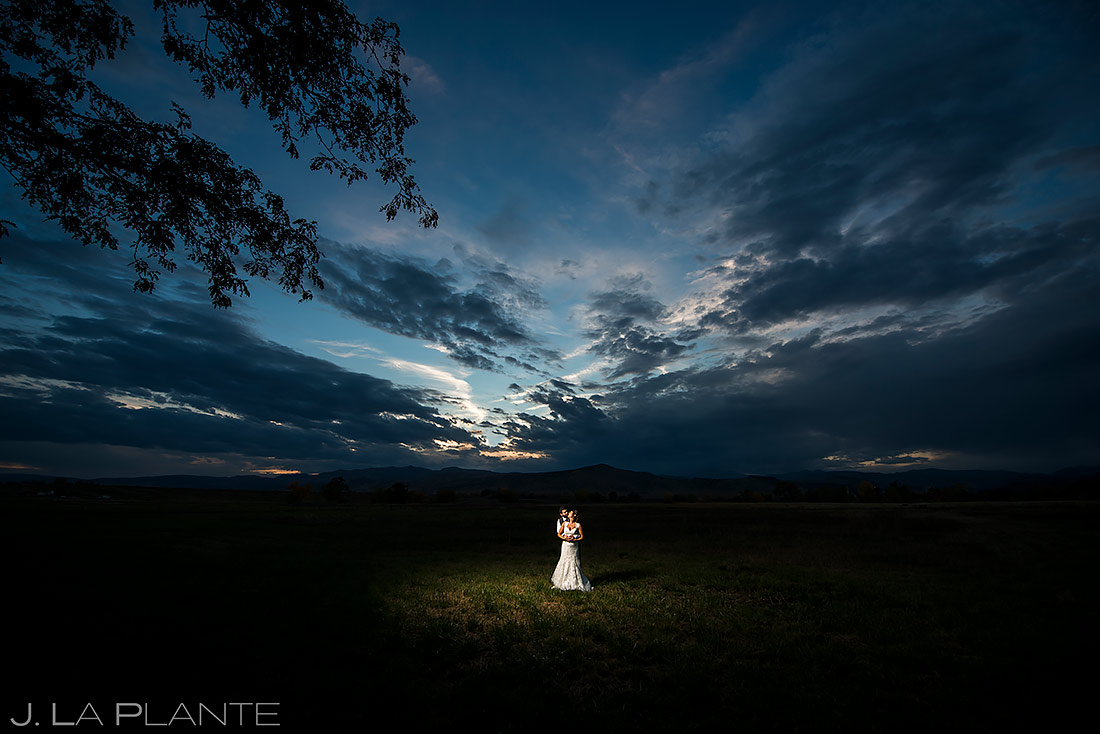 Bride and Groom Sunset Portrait | Shupe Homestead Wedding | Boulder Wedding Photographer | J. La Plante Photo