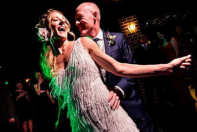 Bride and Groom on dance floor | Ironworks wedding | Best Denver Wedding Photographer | J. La Plante Photo