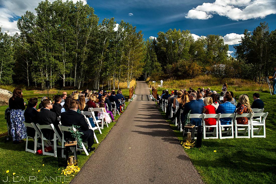 Mountain Wedding Ceremony | Aspen Meadows Resort Wedding | Aspen Wedding Photographer | J. La Plante Photo