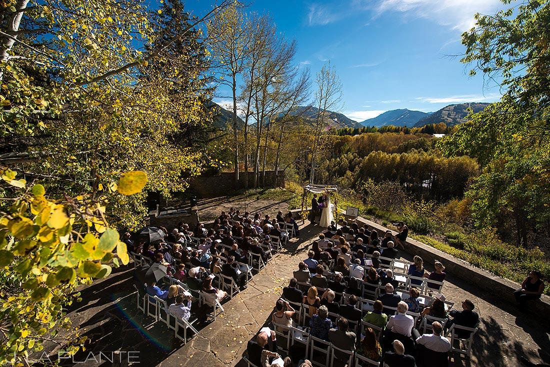 Fall Wedding Ceremony in Aspen | Aspen Meadows Resort Wedding | Aspen Wedding Photographer | J. La Plante Photo