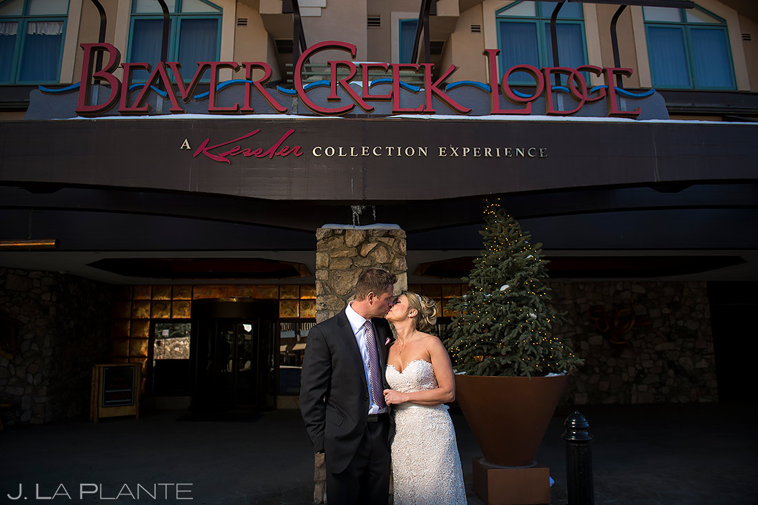 Bride and Groom at Beaver Creek | Beaver Creek Lodge Wedding | Beaver Creek Wedding Photographer | J. La Plante Photo