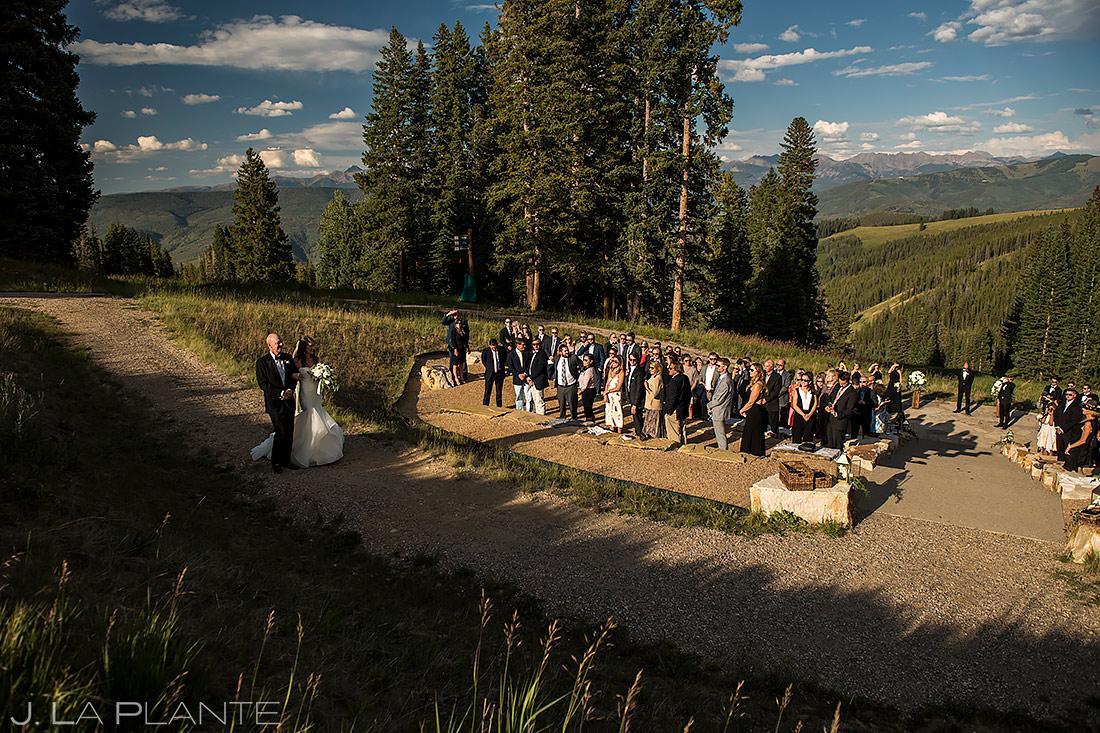 Mountain Wedding Ceremony   Beaver Creek Wedding Deck Wedding   Beaver Creek Wedding Photographer   J. La Plante Photo
