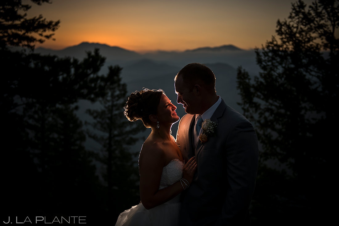 Sunset Wedding Photo | Boettcher Mansion Wedding | Golden Wedding Photographer | J. La Plante Photo
