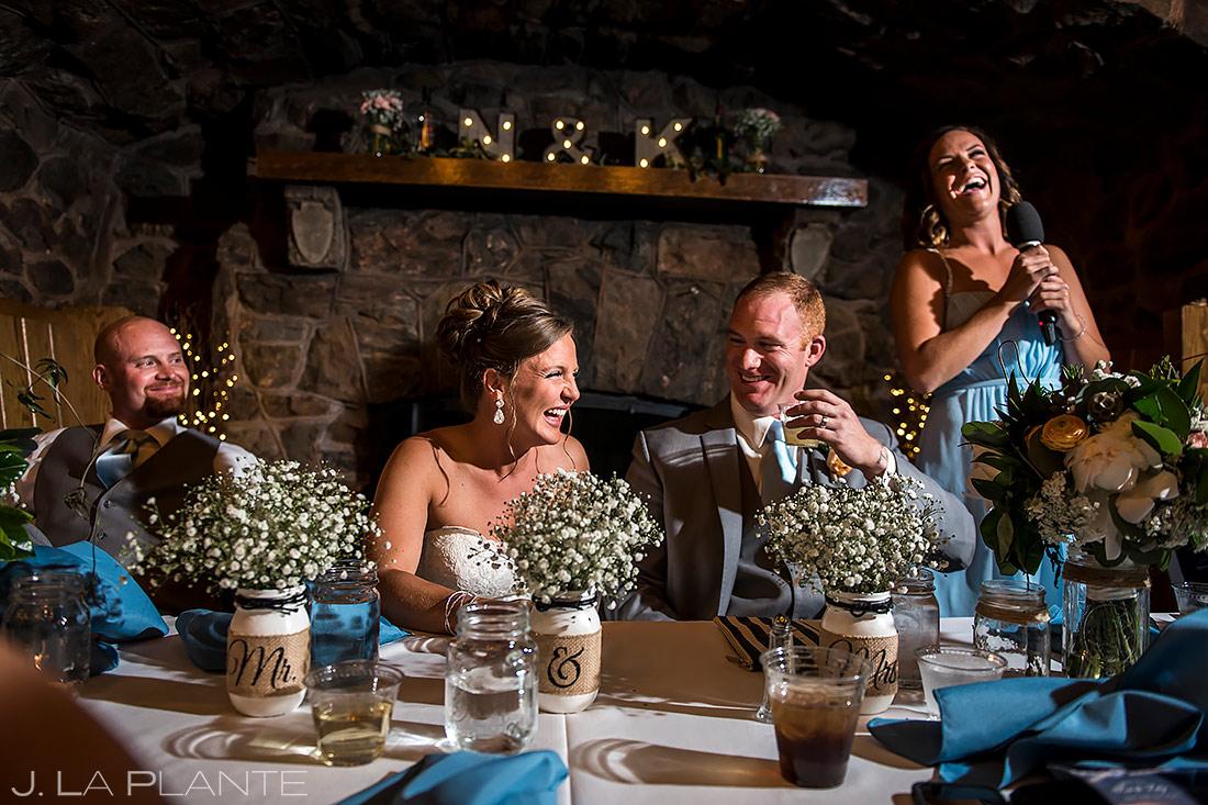 Wedding Toasts | Boettcher Mansion Wedding | Golden Wedding Photographer | J. La Plante Photo
