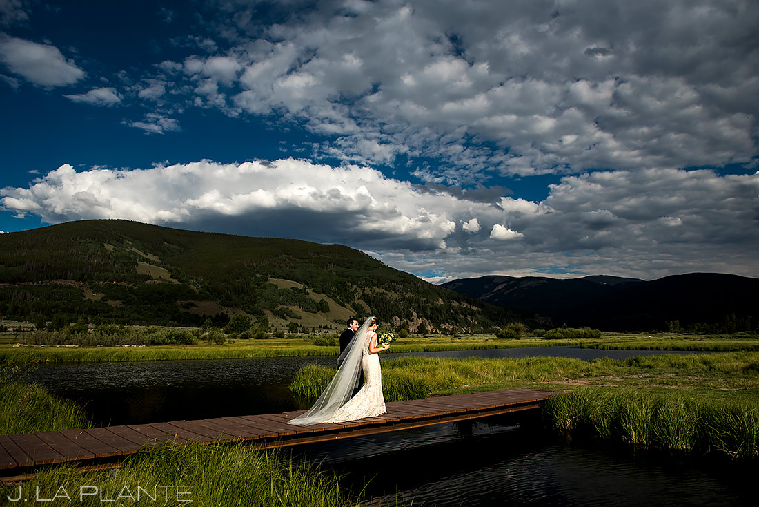 Wedding Dress and Veil | Camp Hale Wedding | Vail Wedding Photographer | J. La Plante Photo