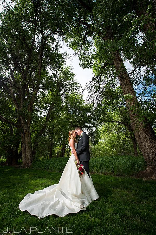 Bride and Groom Wedding Portrait | Chatfield Farms Wedding | Denver Wedding Photographer | J. La Plante Photo