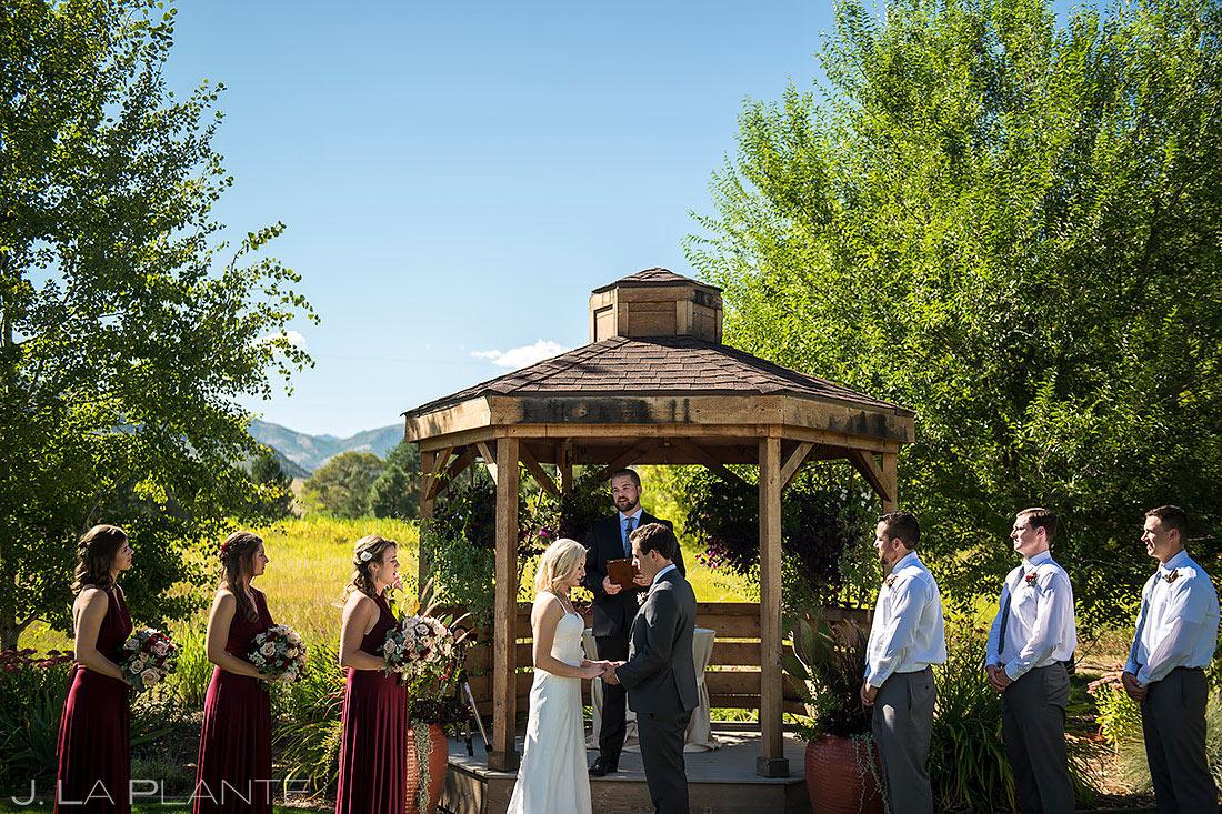 Rustic Wedding Ceremony | Chatfield Farms Wedding | Denver Wedding Photographer | J. La Plante Photo