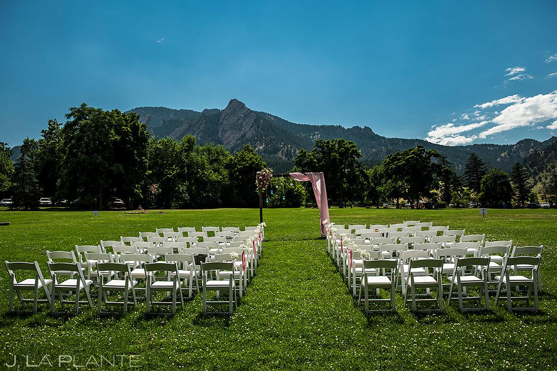 Outdoor Mountain Wedding Ceremony   Chautauqua Dining Hall Wedding   Boulder Wedding Photographer   J. La Plante Photo