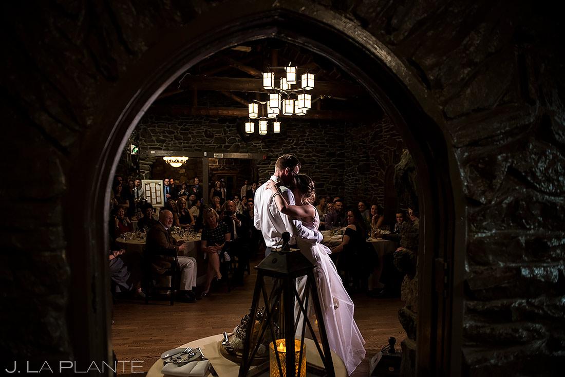 Bride and Groom First Dance | Chief Hosa Lodge Wedding | Denver Wedding Photographer | J. La Plante Photo