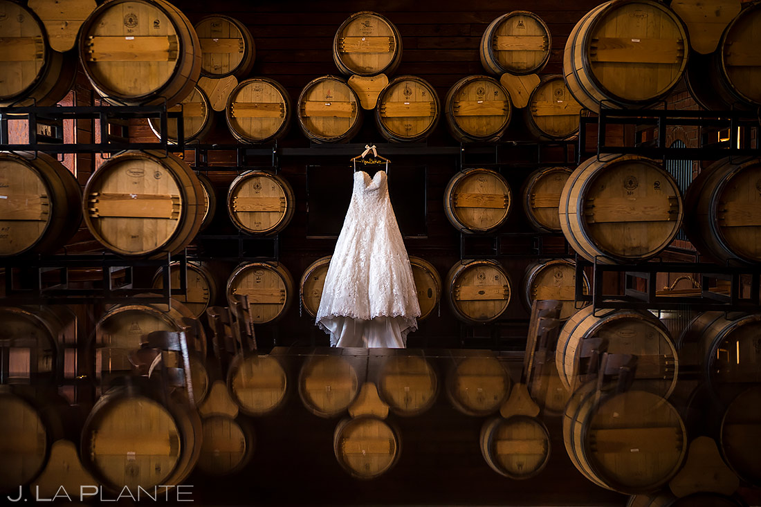 Unique Photo of Wedding Dress | Crooked Willow Farms Wedding | Colorado Wedding Photographer | J. La Plante Photo