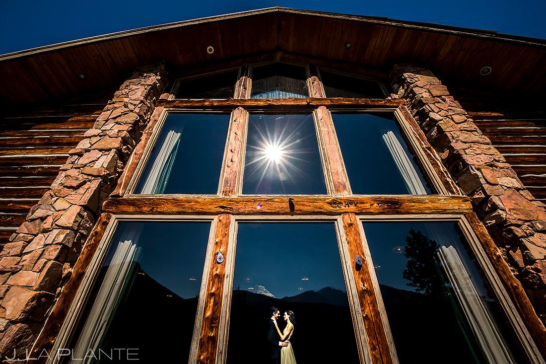 Unique Photo of Bride and Groom | Dao House Wedding | Estes Park Wedding Photographer | J. La Plante Photo