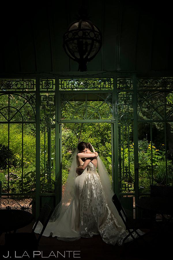 Bride and Bride Portrait | Denver Botanic Gardens Wedding | Denver Wedding Photographer | J. La Plante Photo