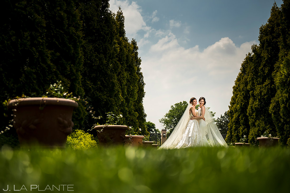 Bride and Bride Portrait | Denver Botanic Gardens Wedding | Denver Wedding Photographer | J. La Plante Photo