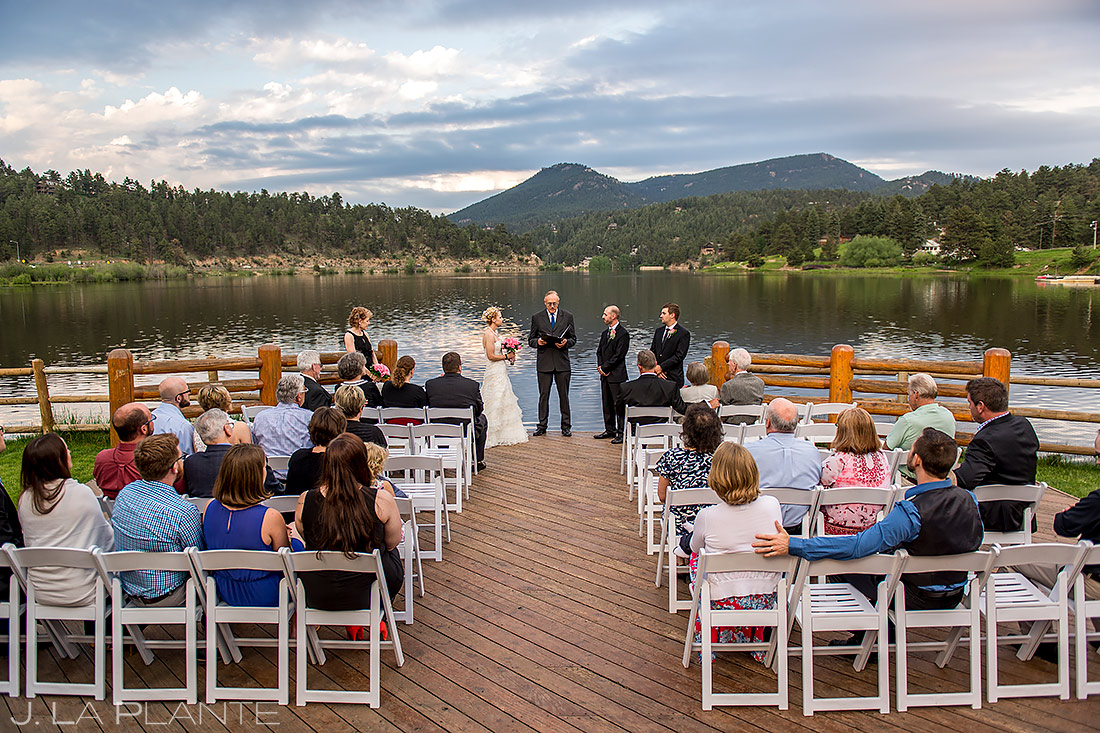 Rustic Mountain Wedding Ceremony | Evergreen Lake House Wedding | Evergreen Wedding Photographer | J. La Plante Photo