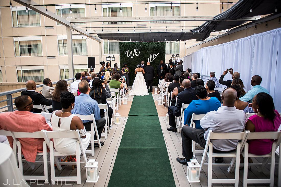 Urban Wedding Ceremony | JW Marriott Cherry Creek Wedding | Denver Wedding Photographer | J. La Plante Photo