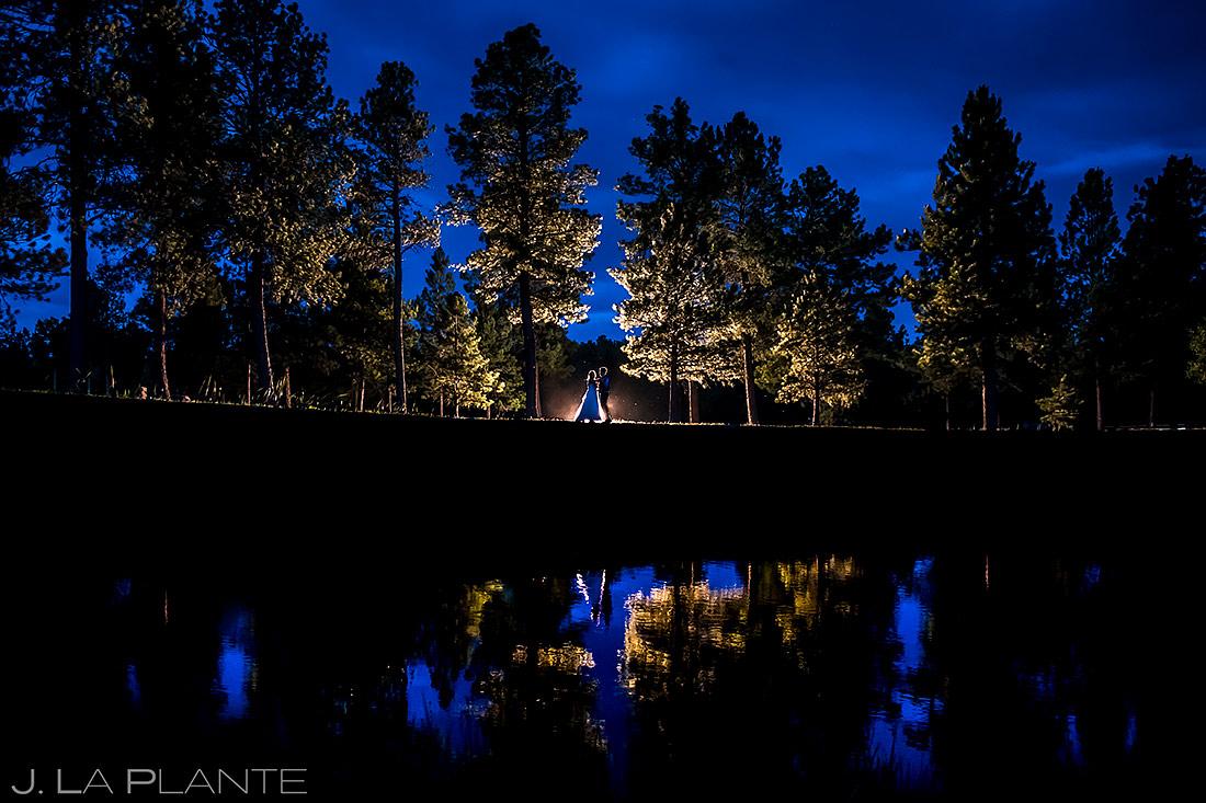 Unique Bride and Groom Portrait   Lodge at Cathedral Pines Wedding   Colorado Springs Wedding Photographer   J. La Plante Photo