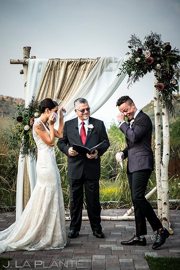 Wedding Ceremony Tears | Manor House Wedding | Denver Wedding Photographer | J. La Plante Photo
