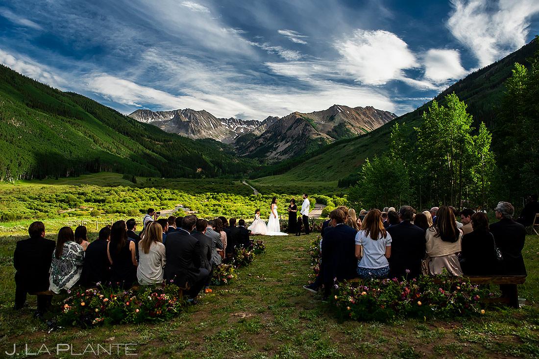 Epic Mountain Wedding Ceremony | Pine Creek Cookhouse Wedding | Aspen Wedding Photographer | J. La Plante Photo