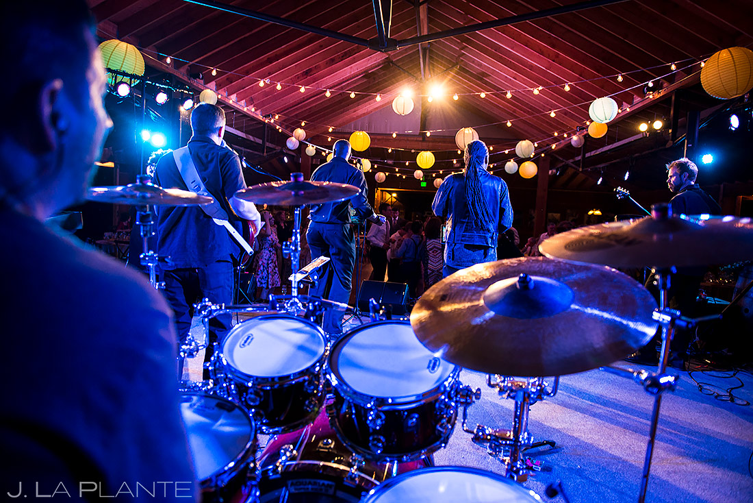 Live Band Playing Wedding Reception | Planet Bluegrass Wedding | Boulder Wedding Photographer | J. La Plante Photo