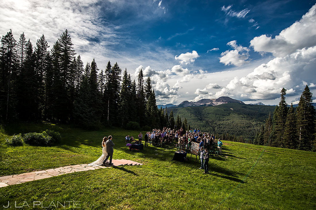 Beautiful Mountain Wedding Ceremony | Purgatory Resort Wedding | Durango Wedding Photographer | J. La Plante Photo